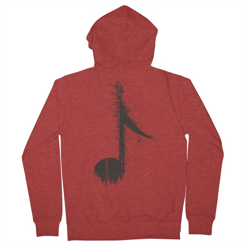 Nature has music for those who listen Men's French Terry Zip-Up Hoody by YANMOS