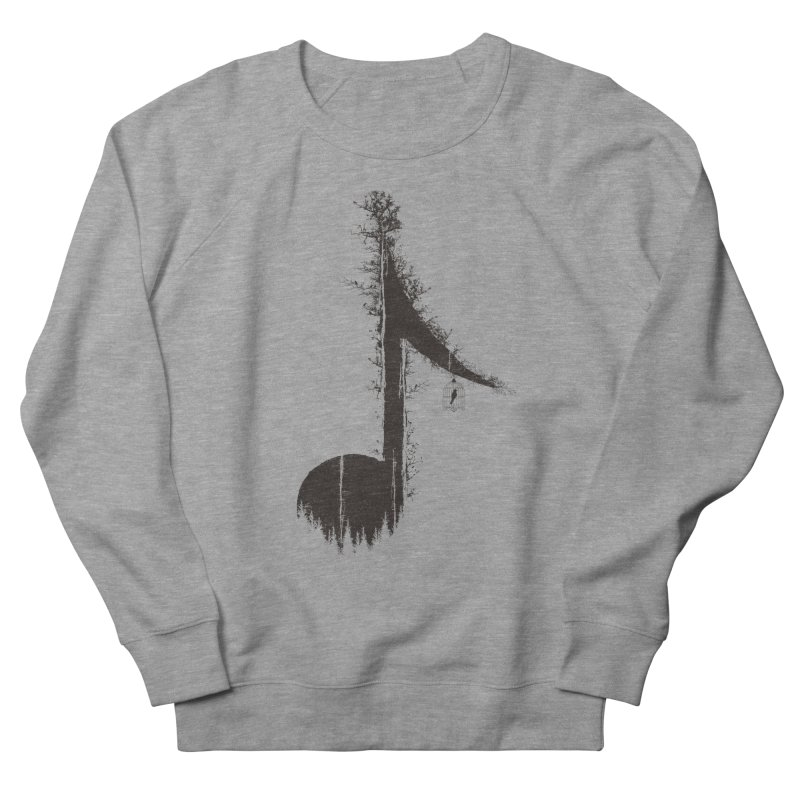 Nature has music for those who listen Men's French Terry Sweatshirt by YANMOS
