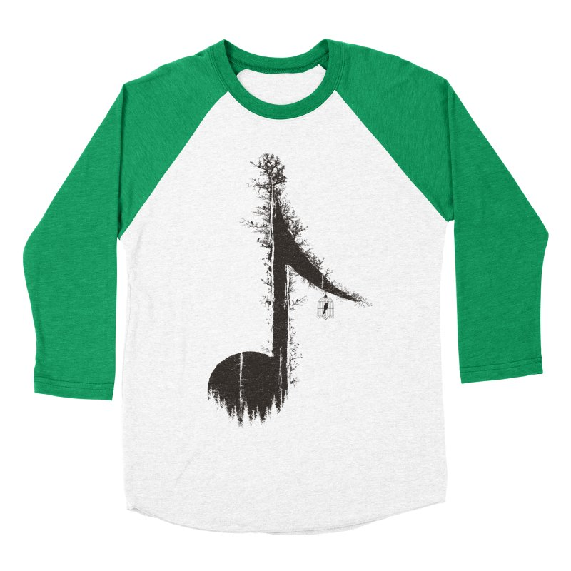 Nature has music for those who listen Men's Baseball Triblend T-Shirt by YANMOS