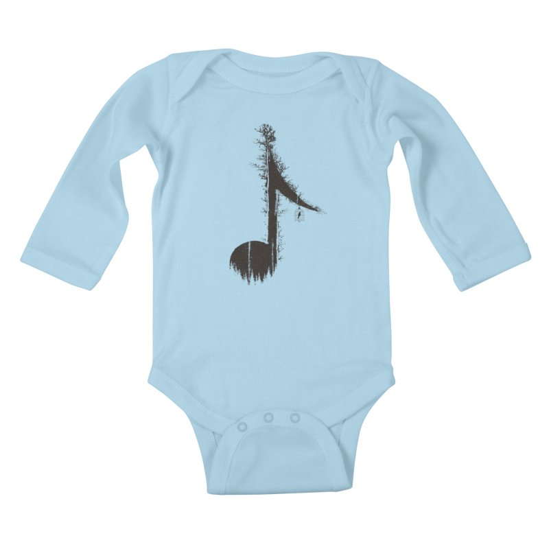 Nature has music for those who listen Kids Baby Longsleeve Bodysuit by YANMOS