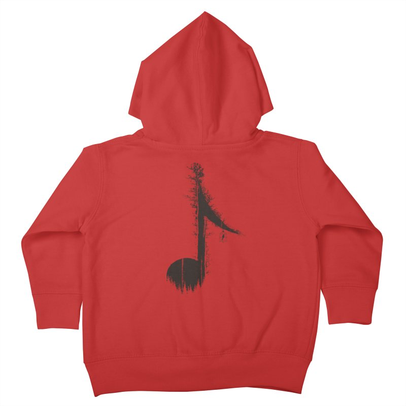 Nature has music for those who listen Kids Toddler Zip-Up Hoody by YANMOS