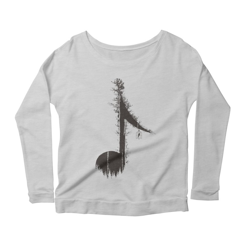 Nature has music for those who listen Women's Scoop Neck Longsleeve T-Shirt by YANMOS