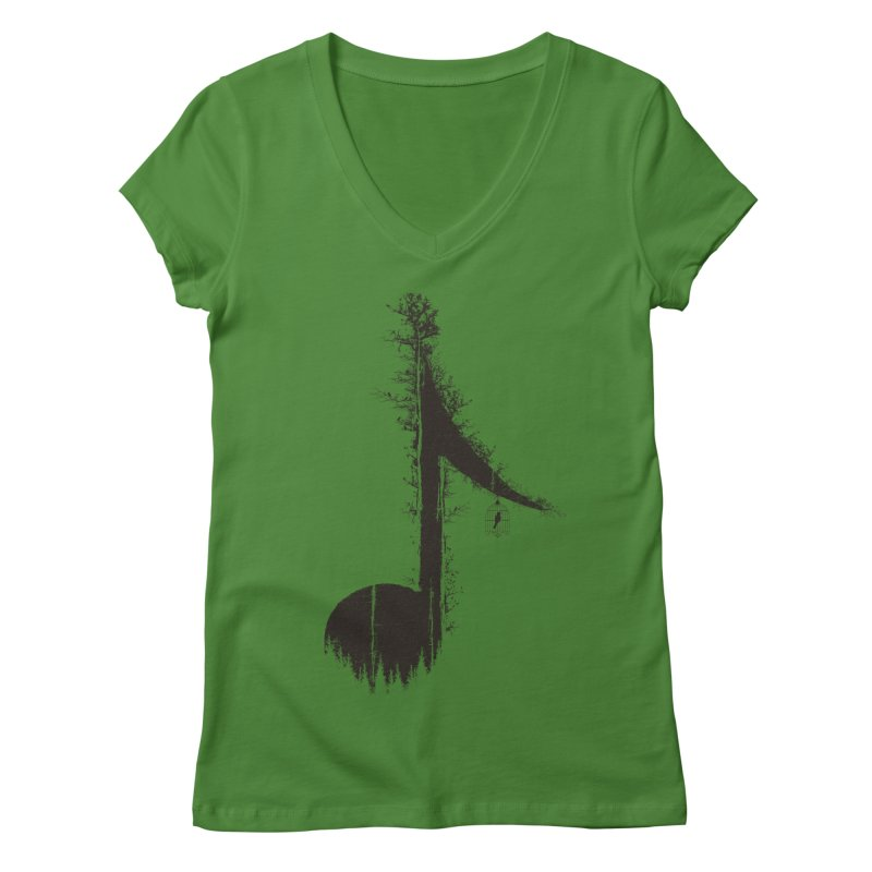 Nature has music for those who listen Women's V-Neck by YANMOS