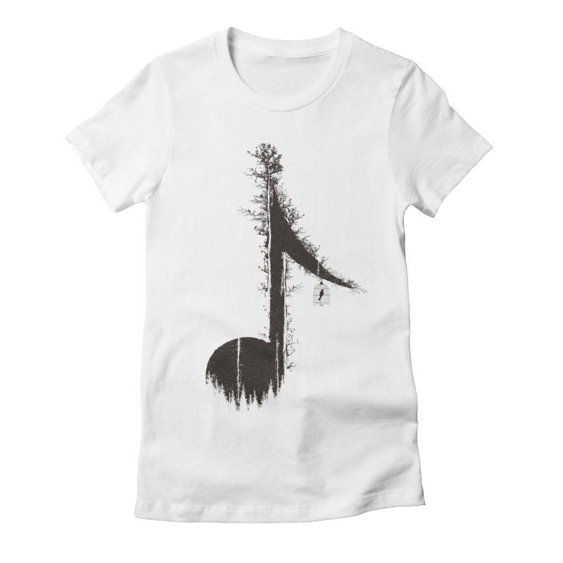 Nature has music for those who listen Women's Fitted T-Shirt by YANMOS