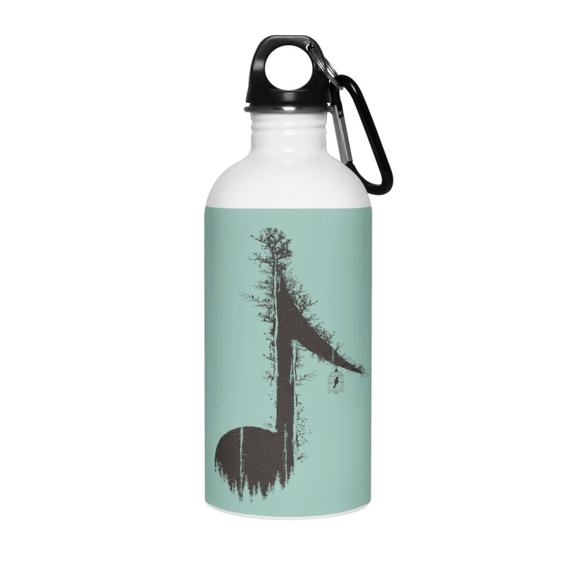 Nature has music for those who listen Accessories Water Bottle by YANMOS