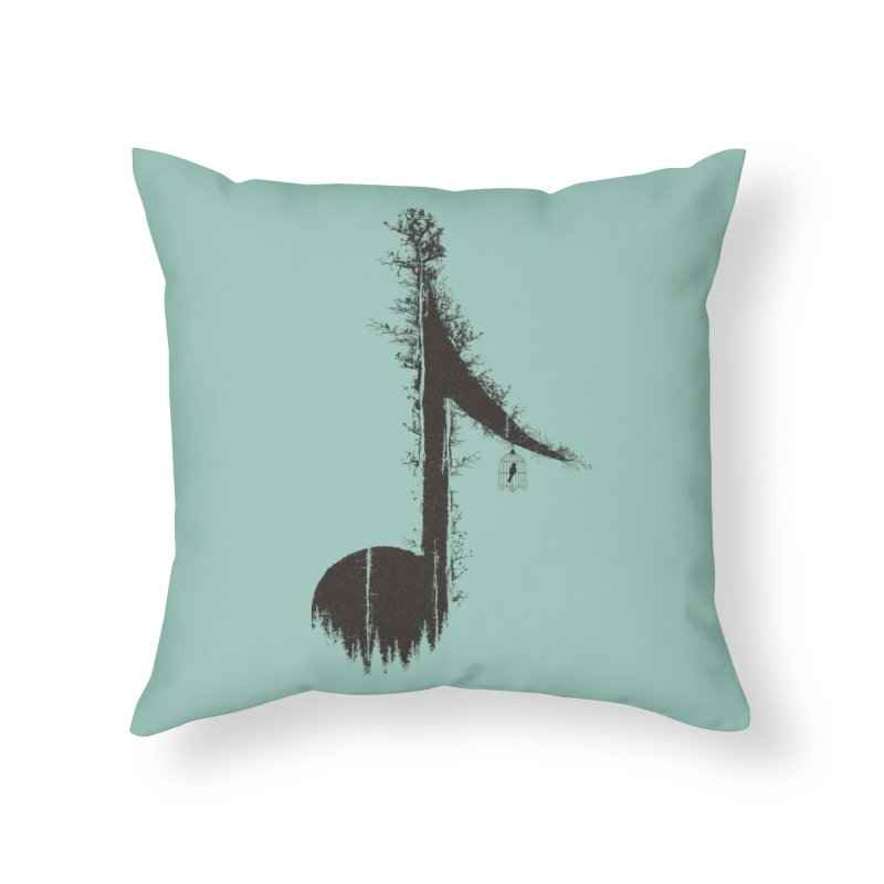 Nature has music for those who listen Home Throw Pillow by YANMOS