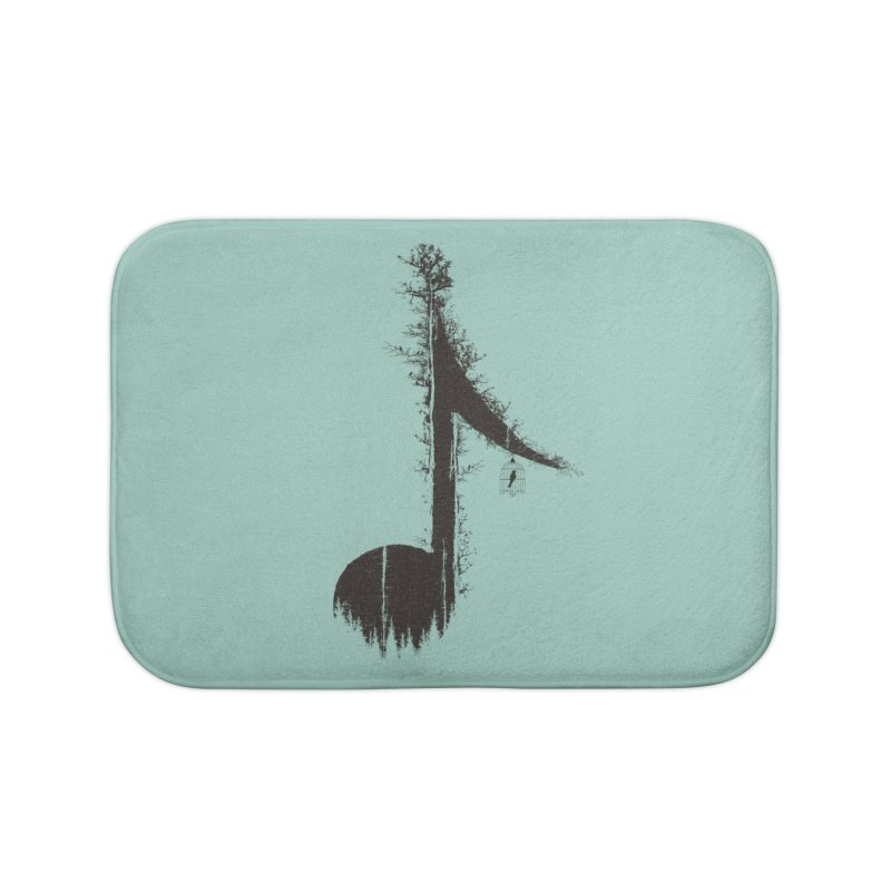 Nature has music for those who listen Home Bath Mat by YANMOS