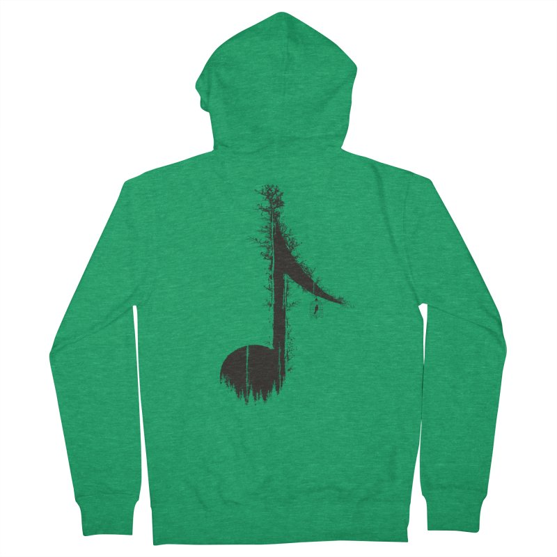 Nature has music for those who listen Men's Zip-Up Hoody by YANMOS