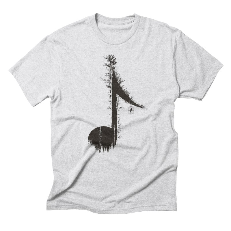 Nature has music for those who listen in Men's Triblend T-Shirt Heather White by YANMOS