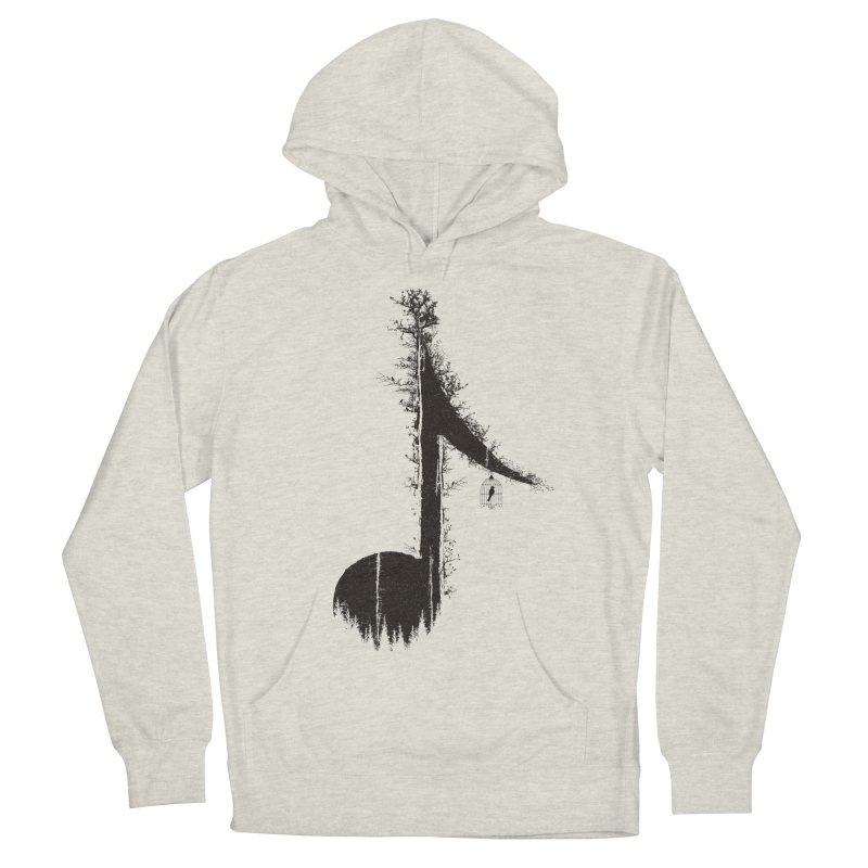 Nature has music for those who listen Men's French Terry Pullover Hoody by YANMOS