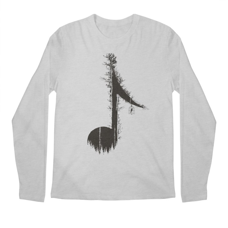 Nature has music for those who listen Men's Regular Longsleeve T-Shirt by YANMOS