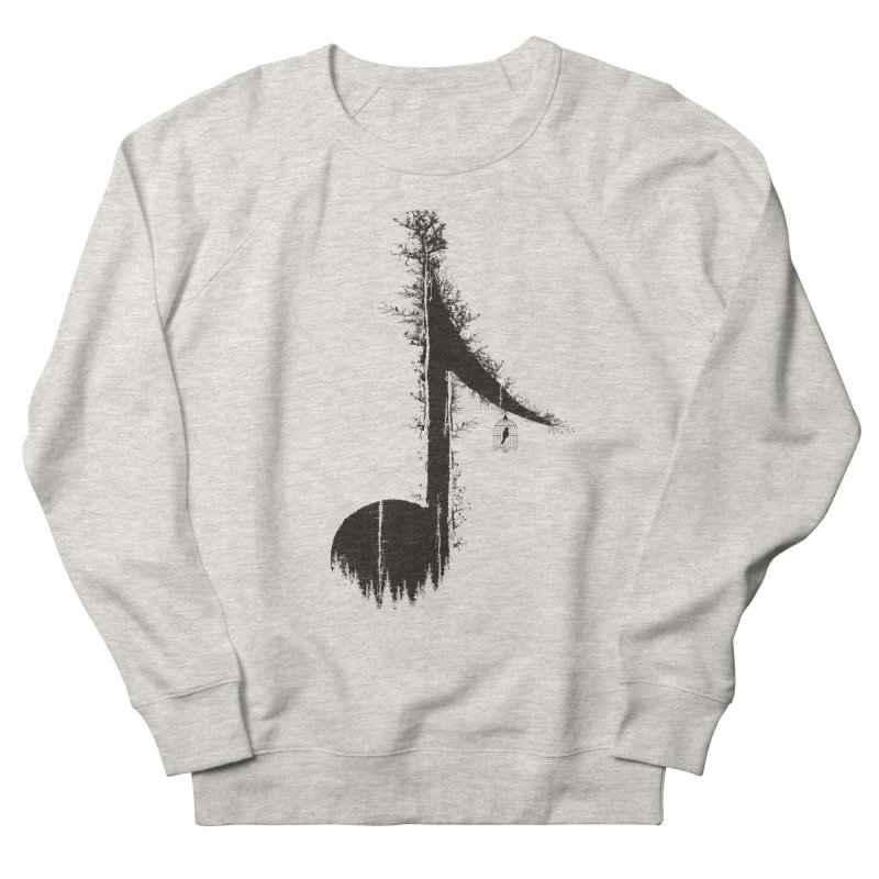 Nature has music for those who listen Women's French Terry Sweatshirt by YANMOS