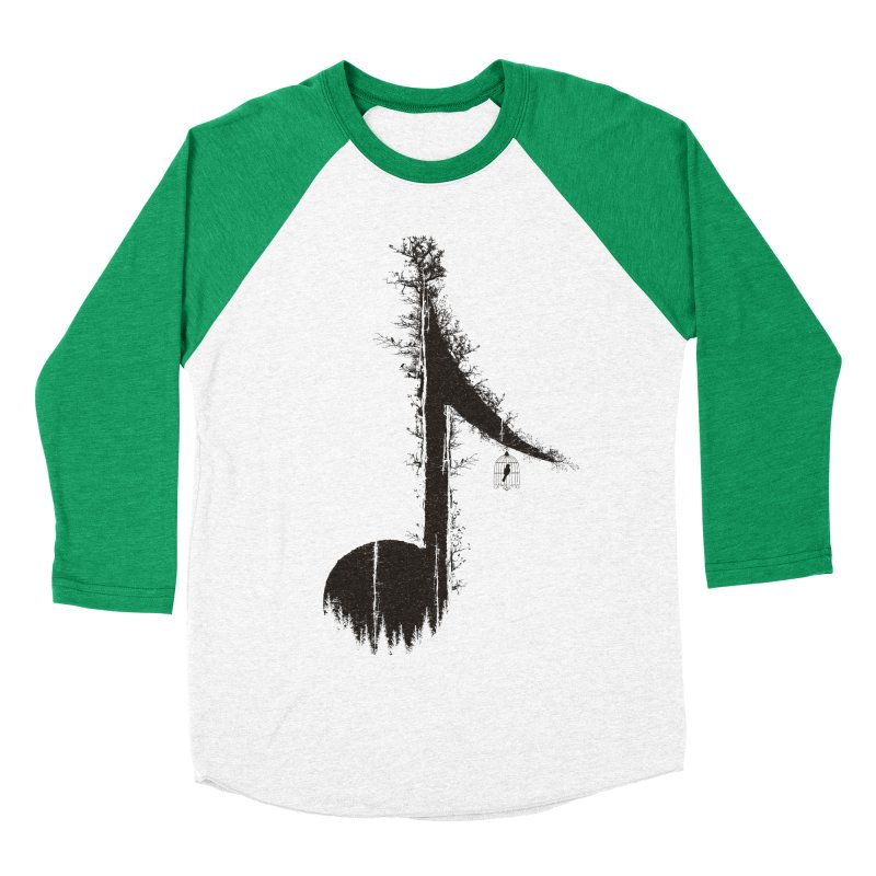 Nature has music for those who listen Women's Baseball Triblend Longsleeve T-Shirt by YANMOS
