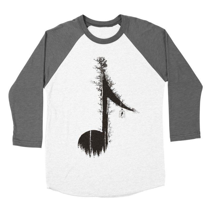 Nature has music for those who listen Men's Baseball Triblend Longsleeve T-Shirt by YANMOS