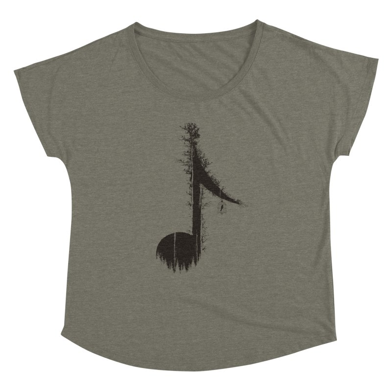 Nature has music for those who listen Women's Dolman Scoop Neck by YANMOS