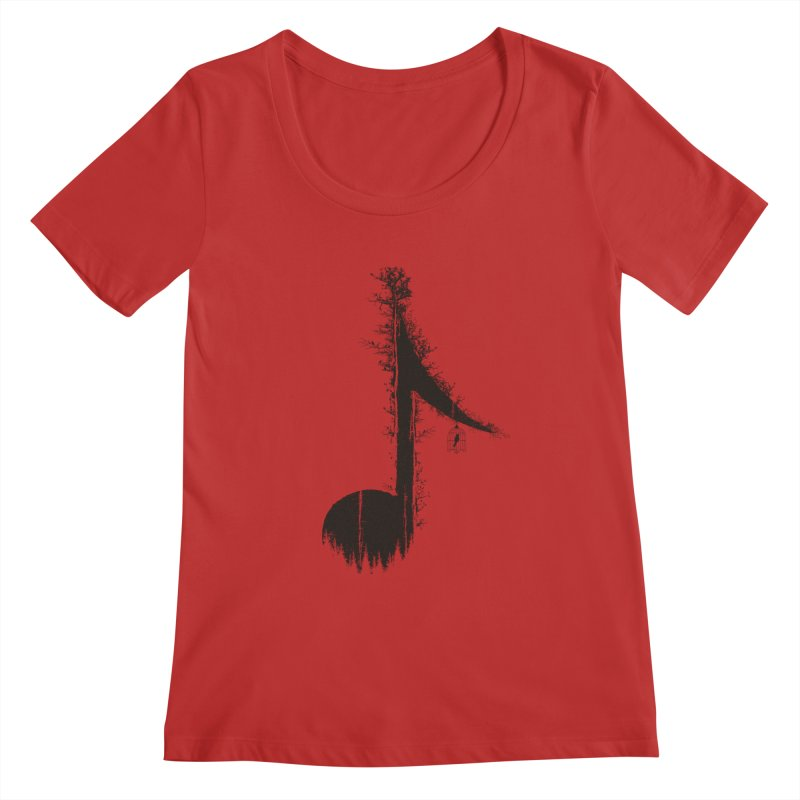 Nature has music for those who listen Women's Regular Scoop Neck by YANMOS