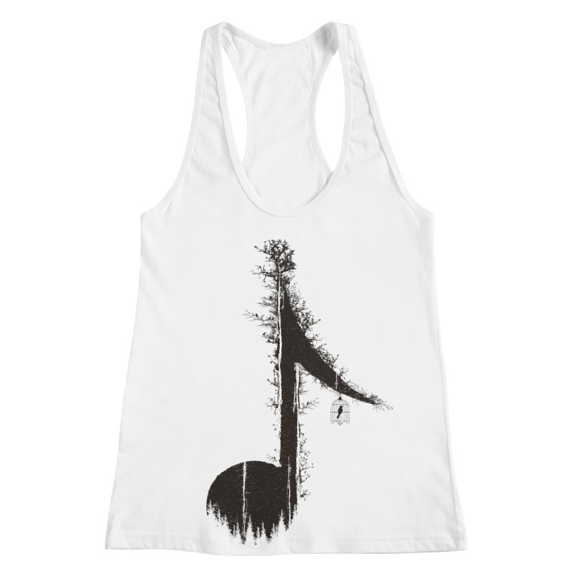 Nature has music for those who listen Women's Racerback Tank by YANMOS