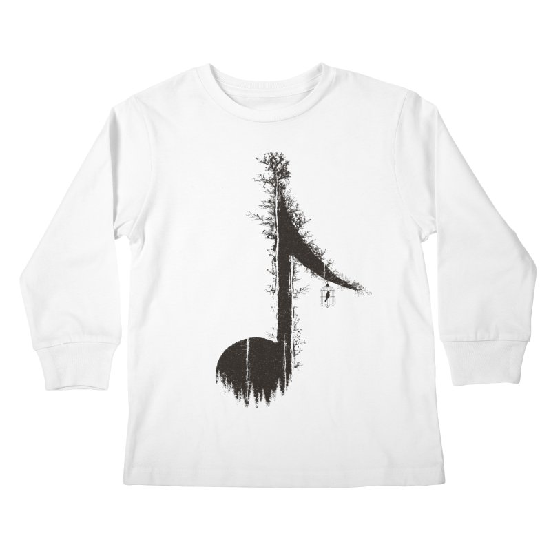 Nature has music for those who listen Kids Longsleeve T-Shirt by YANMOS