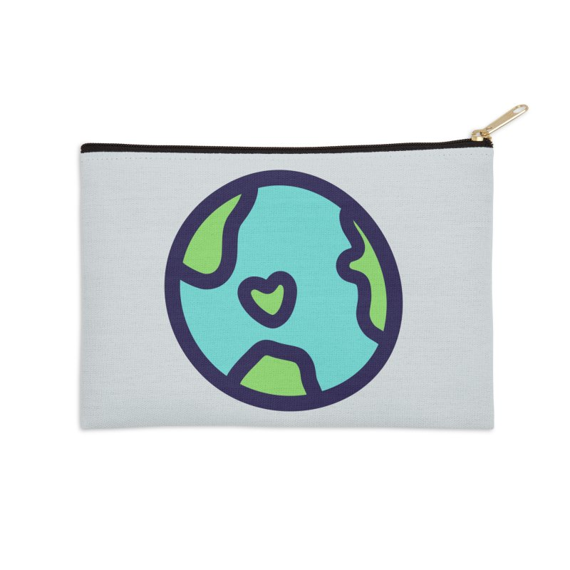 Planet Earth Accessories Zip Pouch by YANMOS