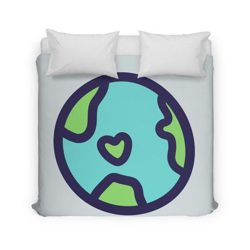 Planet Earth Home Duvet by YANMOS
