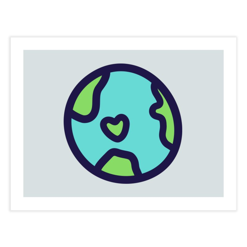 Planet Earth Home Fine Art Print by YANMOS