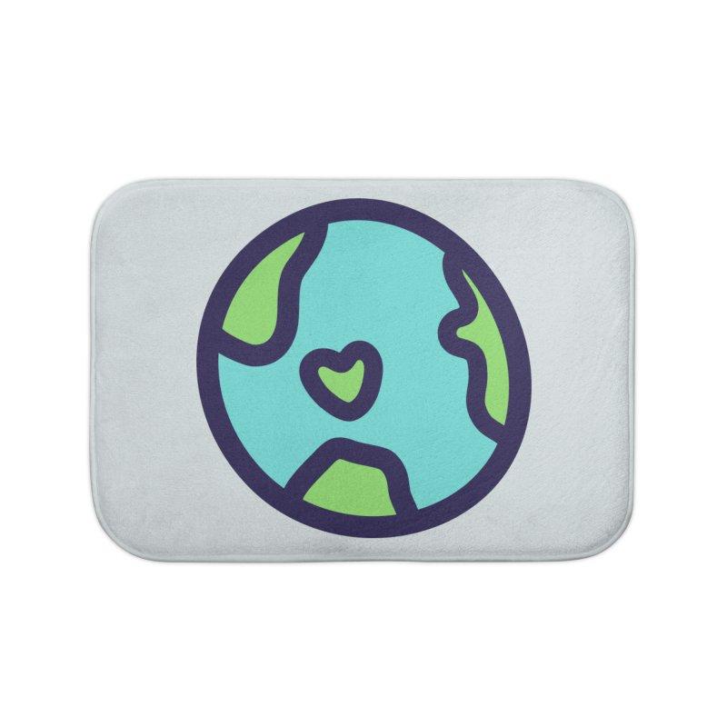 Planet Earth Home Bath Mat by YANMOS