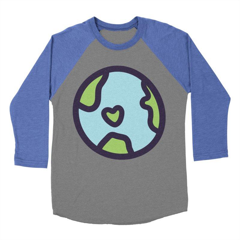 Planet Earth Women's Baseball Triblend T-Shirt by YANMOS