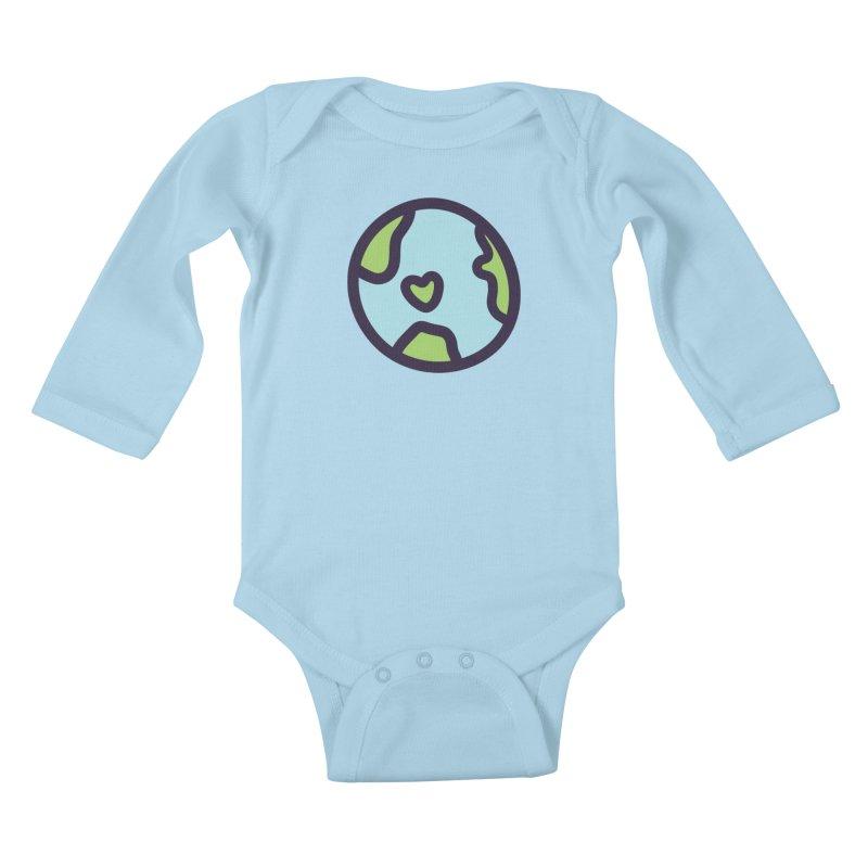 Planet Earth Kids Baby Longsleeve Bodysuit by YANMOS