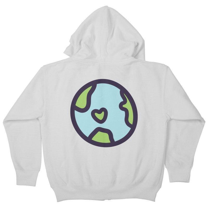 Planet Earth Kids Zip-Up Hoody by YANMOS