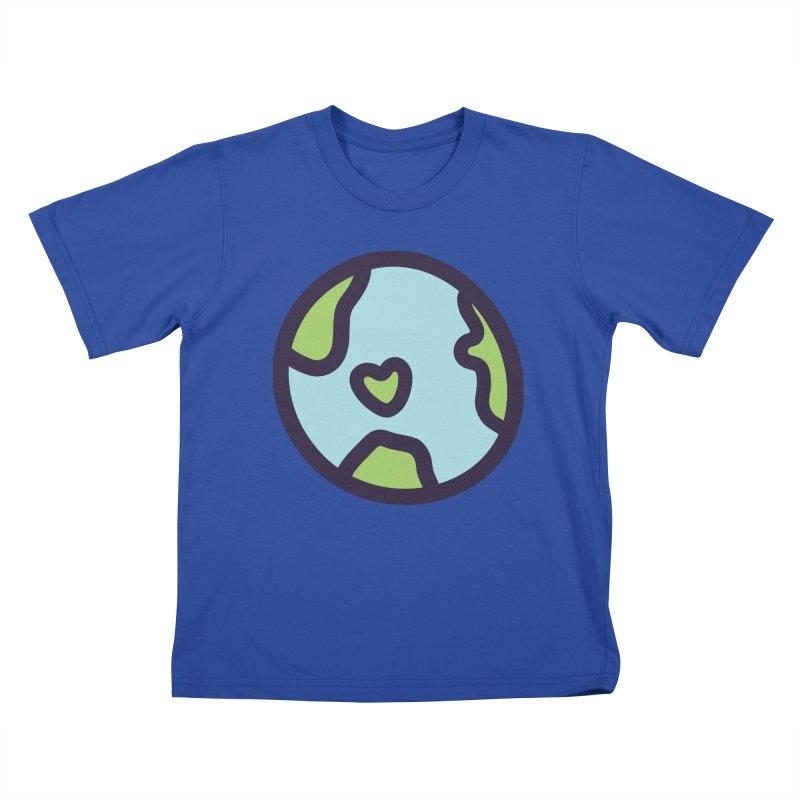 Planet Earth Kids T-Shirt by YANMOS