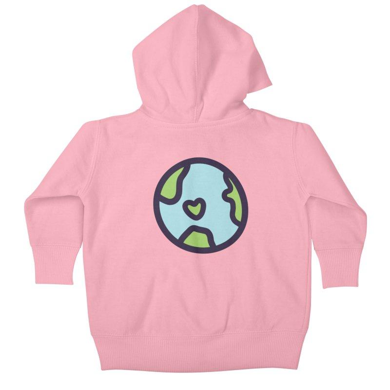 Planet Earth Kids Baby Zip-Up Hoody by YANMOS