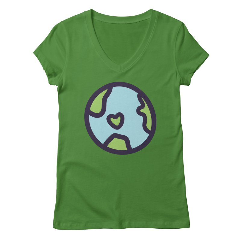 Planet Earth Women's V-Neck by YANMOS