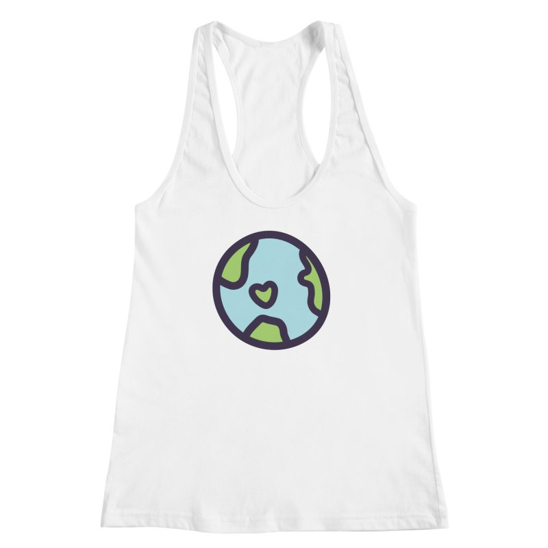 Planet Earth Women's Racerback Tank by YANMOS