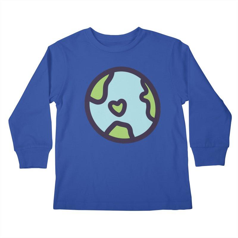 Planet Earth Kids Longsleeve T-Shirt by YANMOS