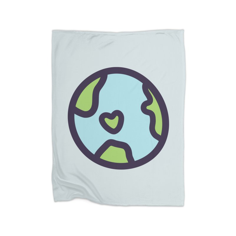 Planet Earth Home Fleece Blanket Blanket by YANMOS