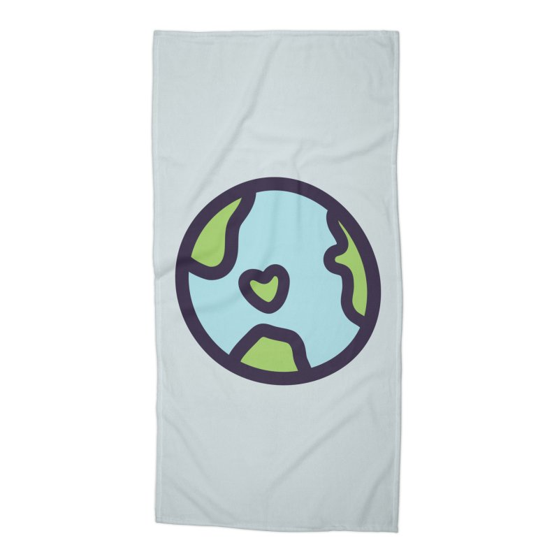 Planet Earth Accessories Beach Towel by YANMOS