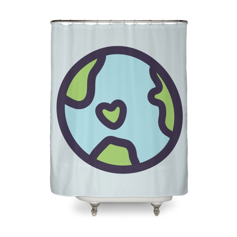 Planet Earth Home Shower Curtain by YANMOS