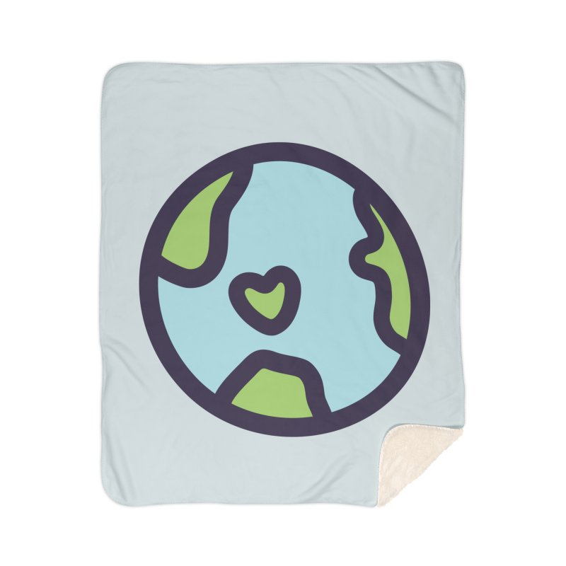 Planet Earth Home Sherpa Blanket Blanket by YANMOS