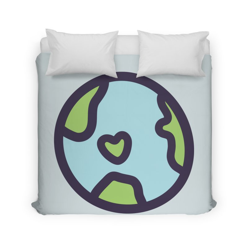 Planet Earth Home Duvet by YANMOS