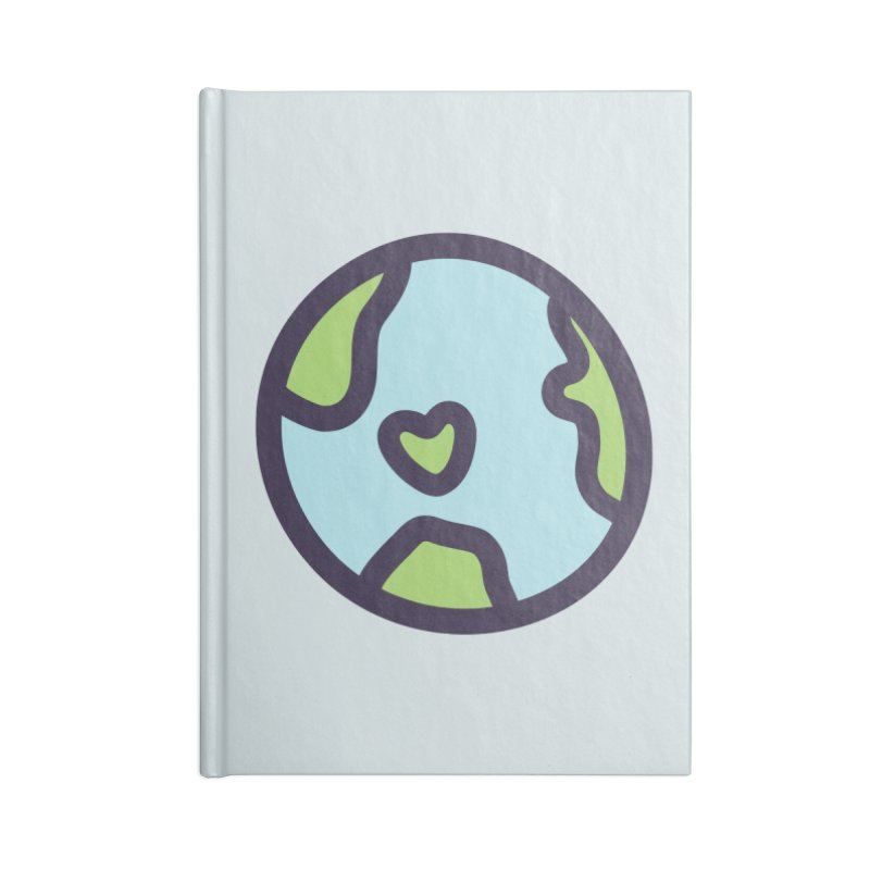 Planet Earth Accessories Blank Journal Notebook by YANMOS