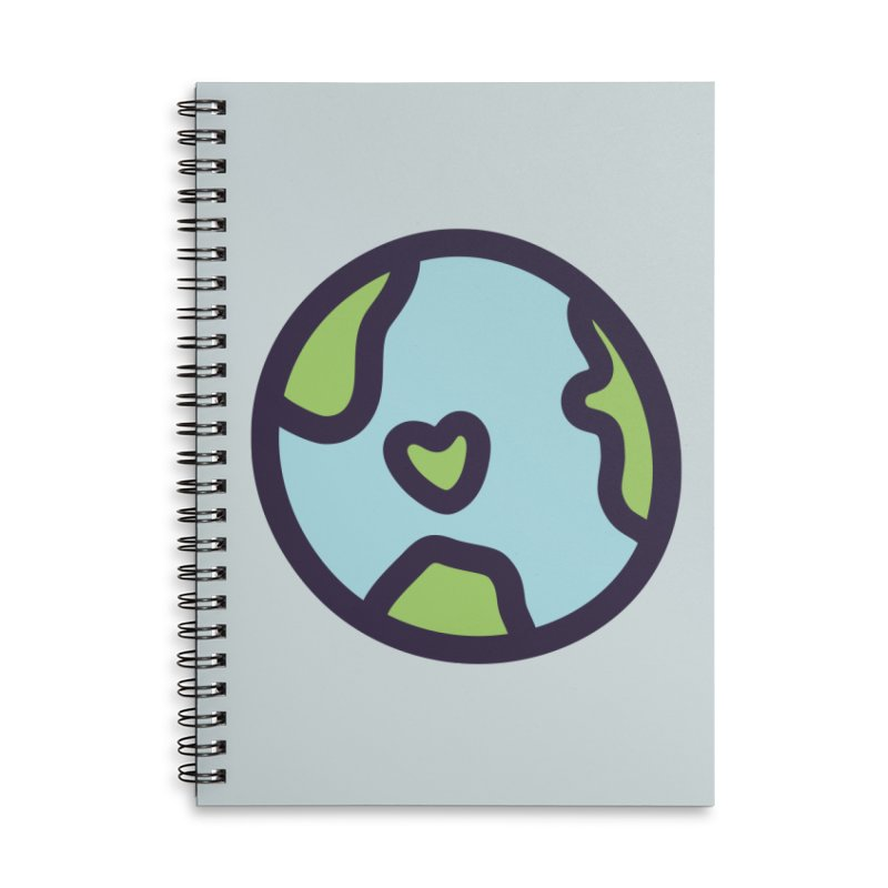 Planet Earth Accessories Lined Spiral Notebook by YANMOS