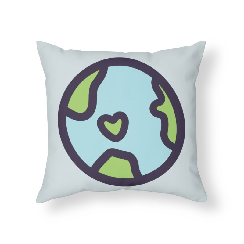Planet Earth Home Throw Pillow by YANMOS