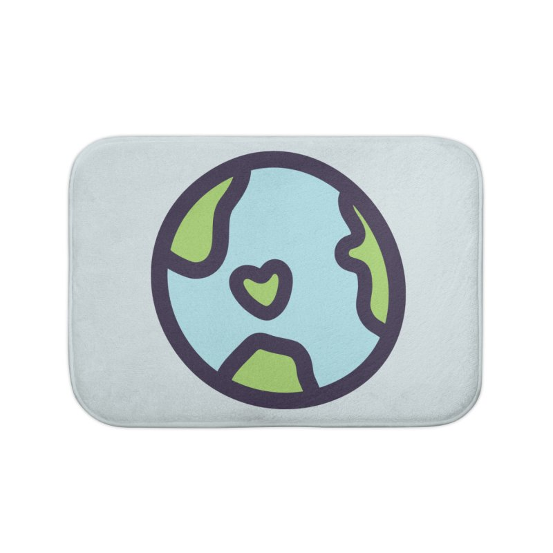Planet Earth Home Bath Mat by YANMOS