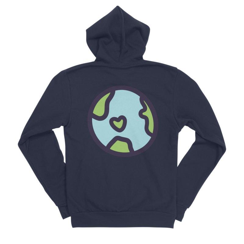 Planet Earth Men's Sponge Fleece Zip-Up Hoody by YANMOS