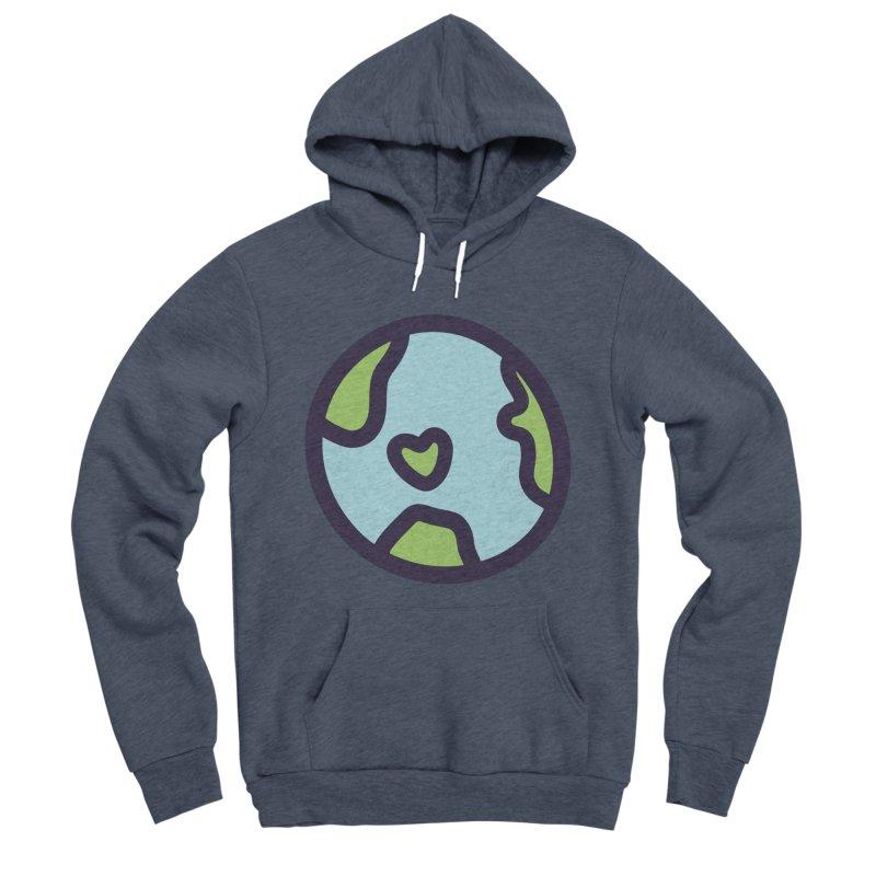 Planet Earth Men's Sponge Fleece Pullover Hoody by YANMOS