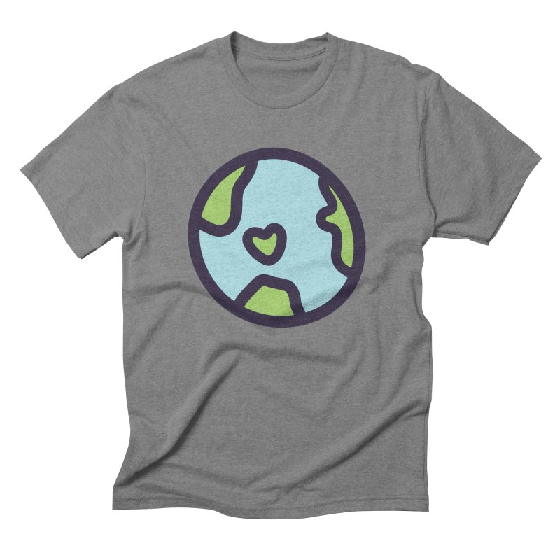 Planet Earth in Men's Triblend T-Shirt Grey Triblend by YANMOS