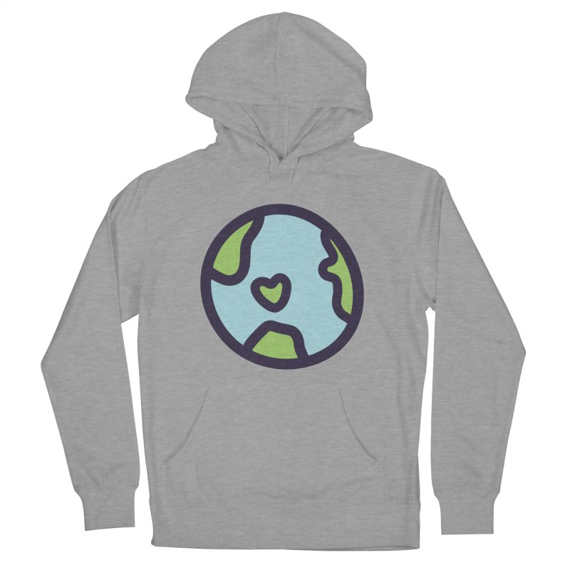 Planet Earth Women's French Terry Pullover Hoody by YANMOS