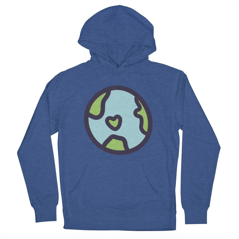 Planet Earth Men's French Terry Pullover Hoody by YANMOS