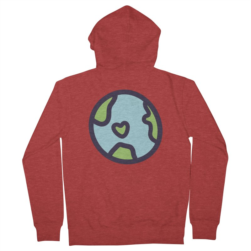 Planet Earth Women's French Terry Zip-Up Hoody by YANMOS