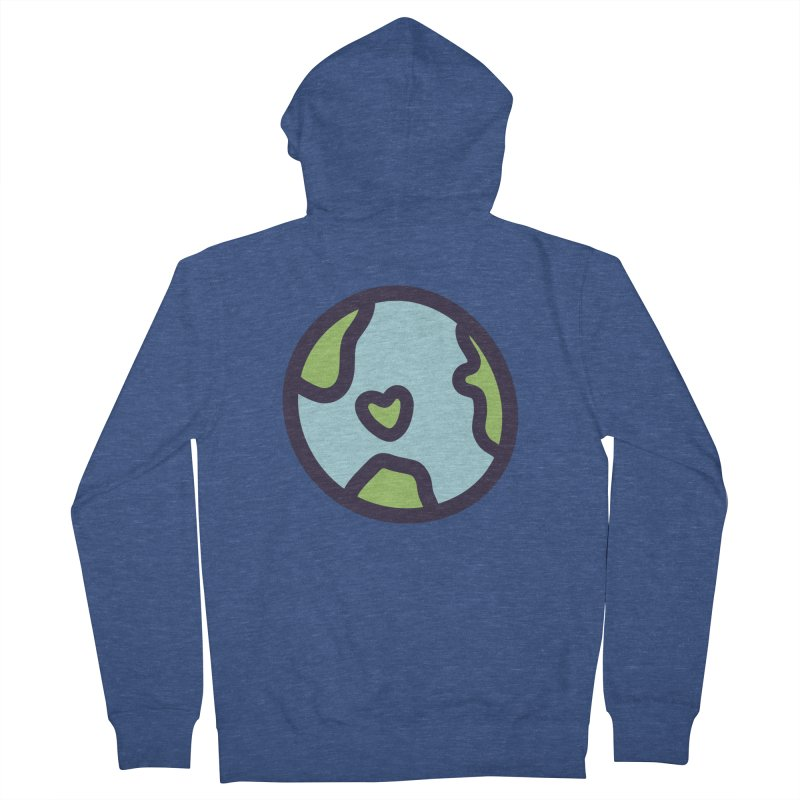 Planet Earth Men's French Terry Zip-Up Hoody by YANMOS